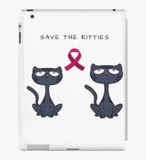 Breast Cancer Awareness-Save The Kitties-MentallyScattered iPad Case/Skin