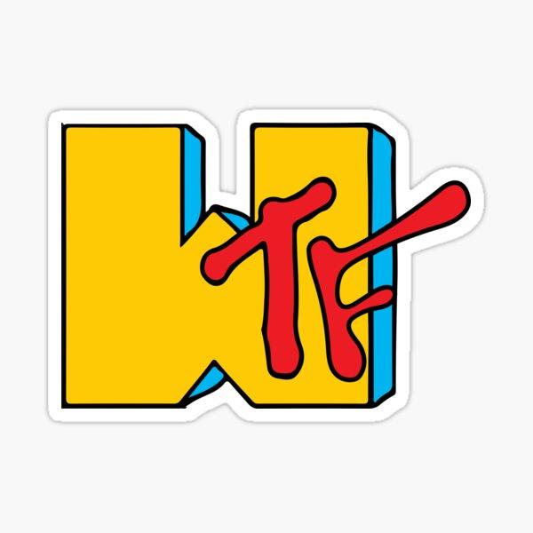 WTF MTV Sticker
