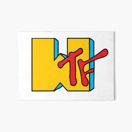 WTF MTV Art Board Print