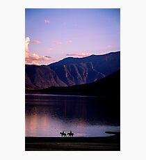 Horses By The Lake Photographic Print