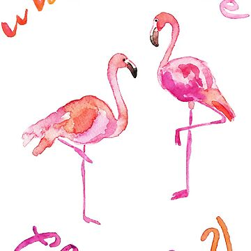 What The Flock Funny Flamingo  by jmac111