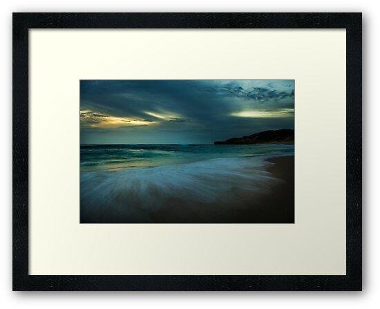 Mornington Peninsula - Sorrento back beach sunset by Monica Cooke