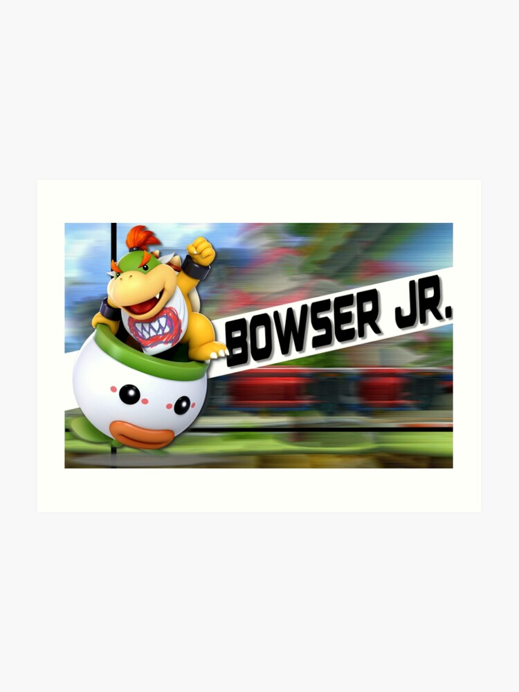 Super Smash Bros Ultimate Bowser Jr Poster Art Print