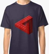 Escher Toy Bricks - Red Classic T-Shirt
