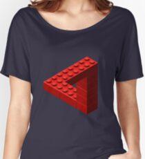 Escher Toy Bricks - Red Women's Relaxed Fit T-Shirt
