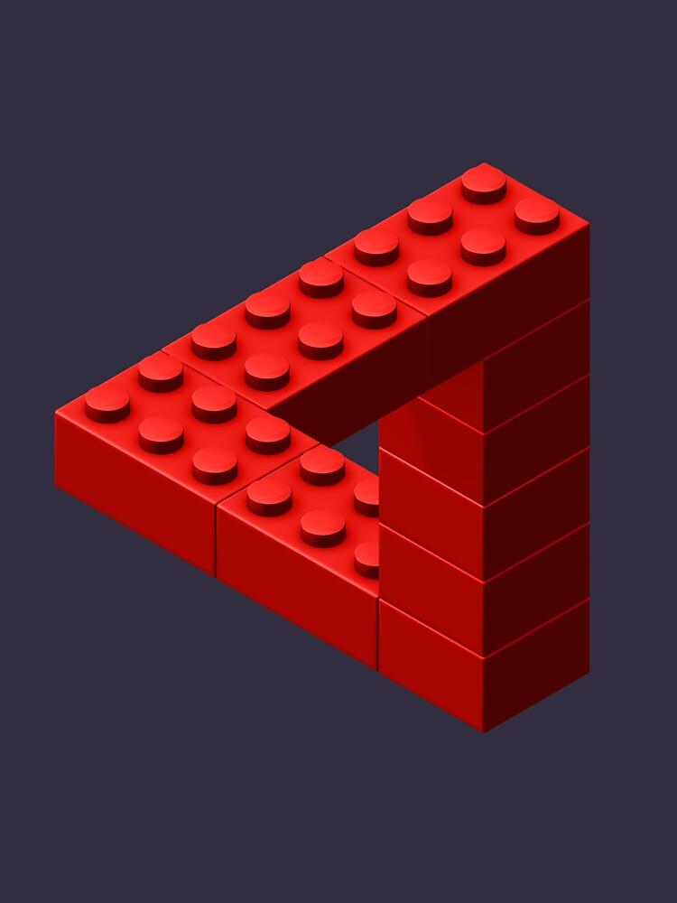 Escher Toy Bricks - Red by chwatson