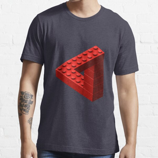 Escher Toy Bricks - Red Essential T-Shirt
