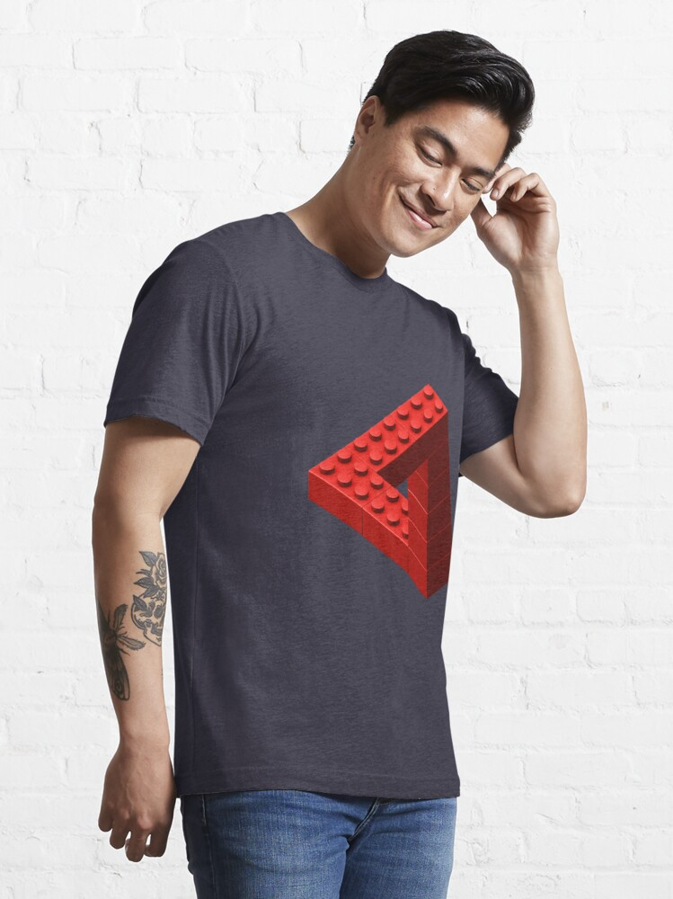 Alternate view of Escher Toy Bricks - Red Essential T-Shirt