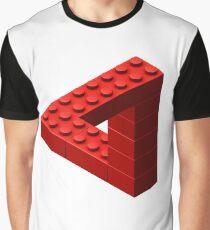 Escher Toy Bricks - Red Graphic T-Shirt