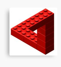 Escher Toy Bricks - Red Canvas Print