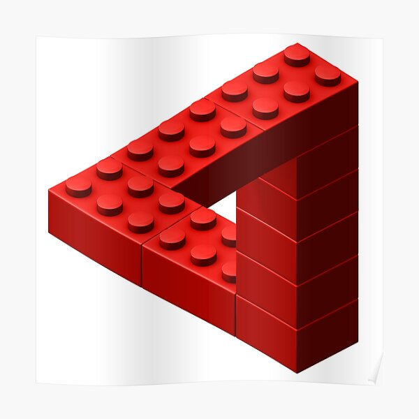 Escher Toy Bricks - Red Poster