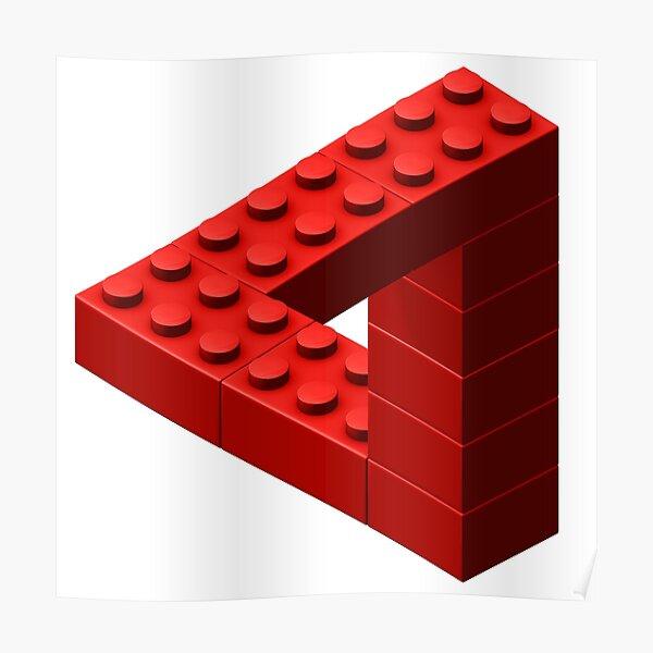 sous forme de bloc jouet. Disponible en rouge Poster