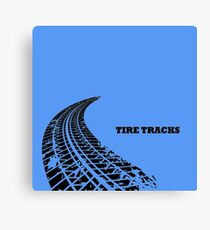 Dirty tire tracks fading into the horizon Canvas Print
