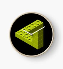 Escher Toy Bricks - Yellow Clock