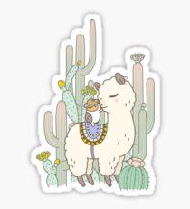 Alpaca Kiss Sticker