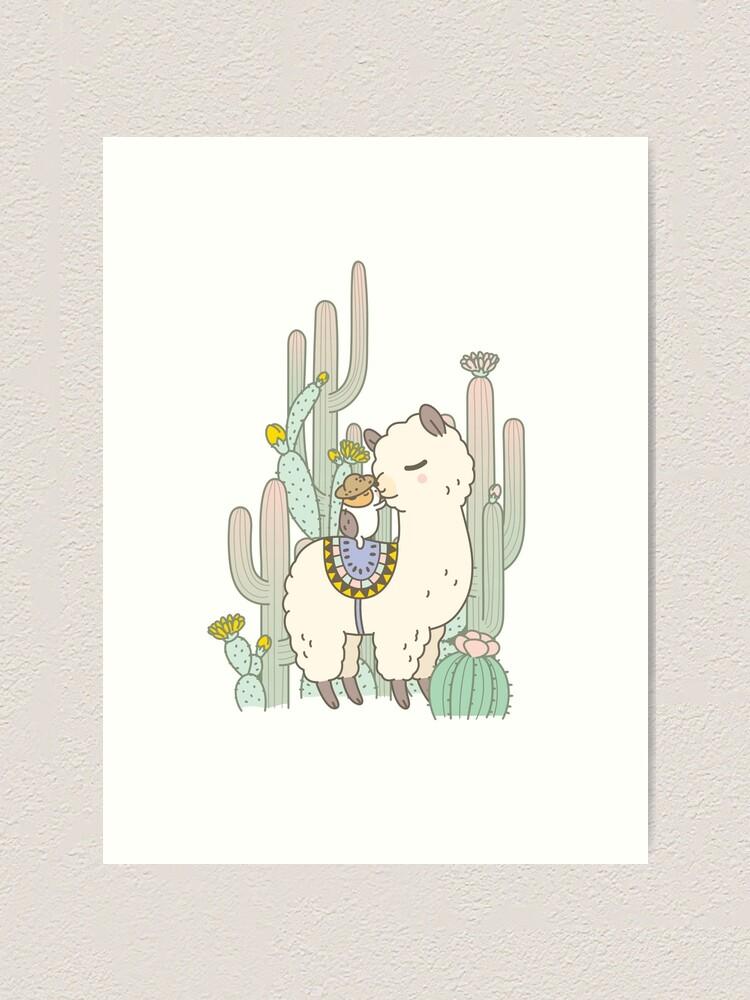 Alternate view of Alpaca Kiss Art Print