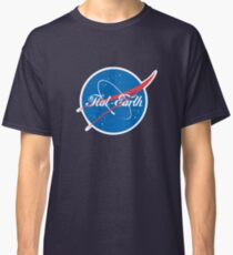 NASA Flat Earth Coke parody logo Classic T-Shirt