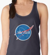 NASA Flat Earth Coke parody logo Women's Tank Top