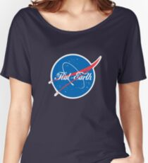 NASA Flat Earth Coke parody logo Women's Relaxed Fit T-Shirt