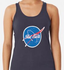 NASA Flat Earth Coke parody logo Women's Tank Top