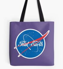 NASA Flat Earth Coke parody logo Tote Bag