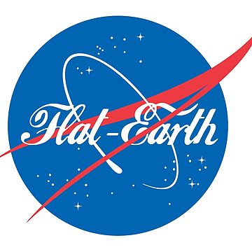 NASA Flat Earth Coke parody logo by GLOBEXIT