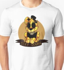 'Stay Golden' Golden Freddy (Five Nights At Freddy's) Slim Fit T-Shirt
