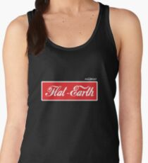 Flat Earth Coke parody logo Women's Tank Top