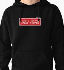 Flat Earth Coke parody logo Pullover Hoodie