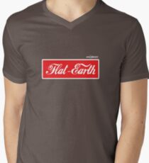 Flat Earth Coke parody logo Men's V-Neck T-Shirt