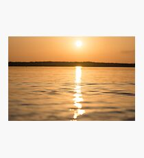 Sunset On The Water Photographic Print