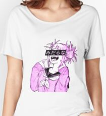 Camiseta ancha para mujer LEWD (PINK) - Sad Anime Japanese Esthetic