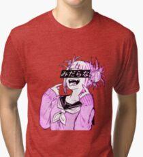 LEWD (PINK) - Sad Japanese Anime Aesthetic Tri-blend T-Shirt