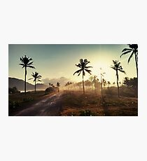 Dirt Road in Indonesia Photographic Print