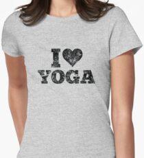 I Love Yoga Vintage Design Women's Fitted T-Shirt