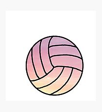 pastel volleyball Photographic Print