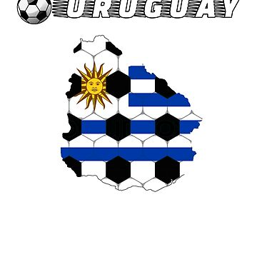 Uruguay Soccer Shirt Football Team Jersey Fan Gift T-Shirt by SimiRaghavan