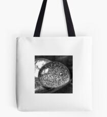 Black-and-White Water Droplet Tote Bag