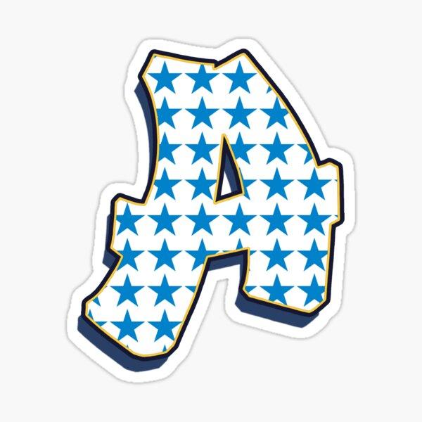 Letter A - Stars Sticker