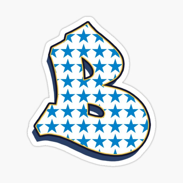 Letter B - Stars Sticker