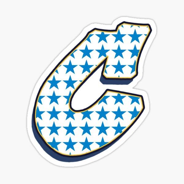 Letter C - Stars Sticker
