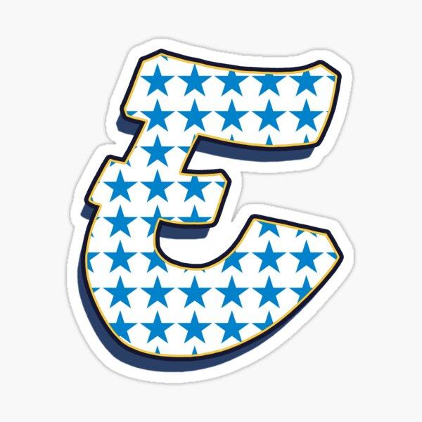 Letter E - stars Sticker