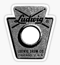 Vintage Ludwig Drum Badge 1968-Music-Rock-Blues-Jazz Sticker
