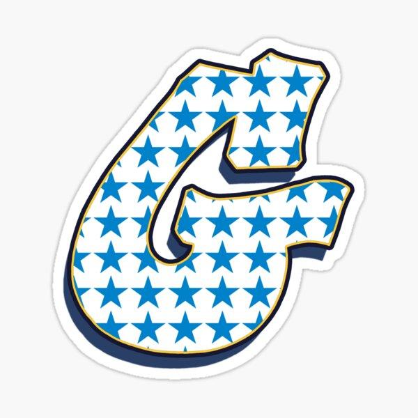 Letter G - Stars Sticker
