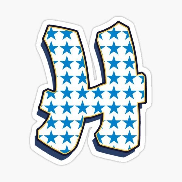 Letter H - Stars Sticker