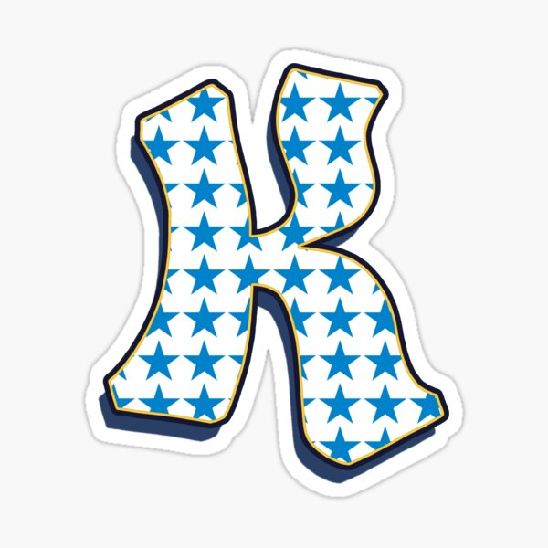 Letter K - Stars Sticker