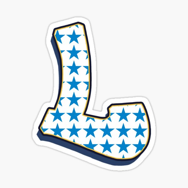 Lettter L - Stars Sticker