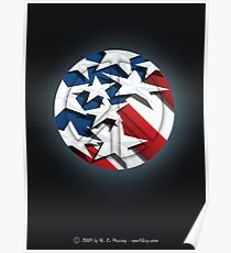 Stars n' Stripes Peace Poster