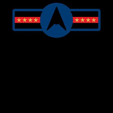 Space Force USSF United States Galactic Military Badge Trump Simple by zot717