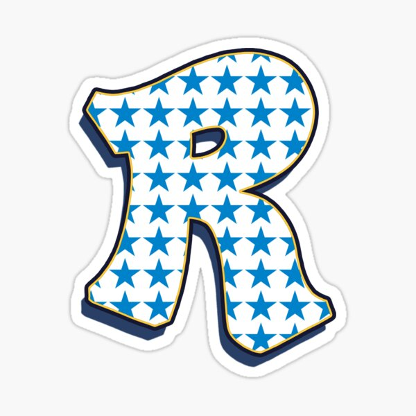 Letter R - stars Sticker